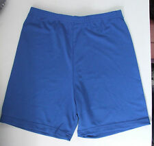Ladies/Girls 34in waist Lycra Gym Shorts Netball Knickers Cycle Short Royal Blue