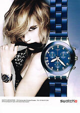 PUBLICITE ADVERTISING 014   2011   SWATCH    collection montre