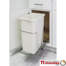Chrome- Single Trash Can Pull-Out System with Can- 11 Minutes Installation