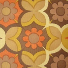 1970s GEOMETRIC FLORAL Iconic Brady Flowers Wallpaper Mid Century Modern