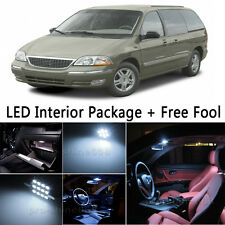 12X Bulb Car LED Interior Light Package kit For 1999-2003 Ford Windstar White NQ