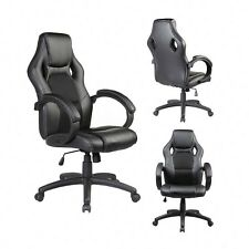 Ergonomic Mid-back black PU leather office chair Executive Computer desk task