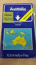 Australia: Continent Map With Index Of Countries: Kummerly And Frey Map (M15)