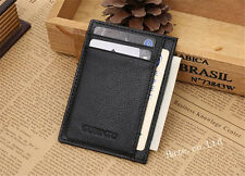Men Genuine Leather Slim Wallet ID Card Credit Card Holder