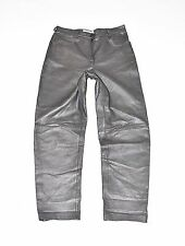 "Vintage Grey Soft Leather ELEGANCE Biker Jeans Pants Trousers Size W31"" L30"""