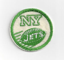 "1960's New York Jets patch vintage original old 2"" GREEN Joe Namath era"