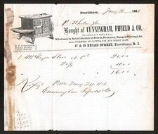 Cunningham Fifield Co Stoves Providence R I 1856 Vintage Letterhead Rare