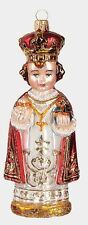 Infant Jesus of Prague Religious Polish Mouth Blown Glass Christmas Ornament