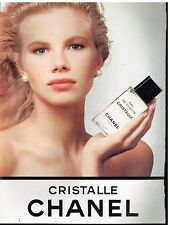 Publicité Advertising 1989 Eau de Toilette Cristalle Chanel