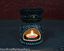 """4"""" Marble  Aroma Lamp Natural Stone Oil Warmer Hand Carving Home Deco Gifts H716"""
