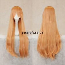 80 cm LONG STRAIGHT Cosplay Parrucca con Frangia a Peach Rosa, UK Venditore, Alex