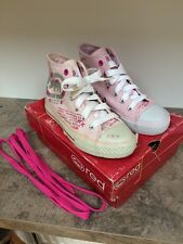 Red by Marc Ecko Girls Silver / Pink  Hi top Trainers / Boots Size 12 ��VGC��