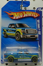 FORD PICKUP TRUCK BLUE 2010 10 F150 F 150 2009 09 6 114 HW HOT WHEELS