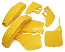 RM 125 1989 - 1991 EVO Motocross MX UFO Plastic Kit OEM colours Yellow