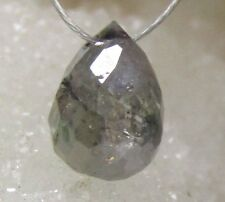RARE GENUINE FACETED NATURAL AFRICAN GRAY DIAMOND BRIOLETTE BEAD 1.45cts
