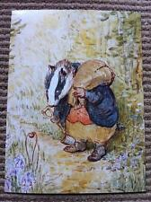 BEAUTIFUL VINTAGE PETER RABBIT WATERCOLOUR BEATRIX POTTER POSTCARD SIZE LARGE
