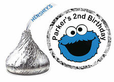 216 COOKIE MONSTER SESAME STREET BIRTHDAY PARTY FAVORS HERSHEY KISS LABELS