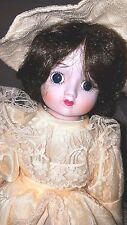 """Nostalgic Doll """"Melanie"""" with porcelain head and hands 18"""""""