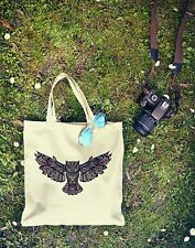 New Canvas Eco Hipster TRIBAL OWL Colourful Cotton Tumblr Shopping Tote Bag