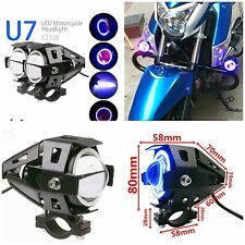 2x Motorcycle U7 Cree LED 3000LM Fog Spot Light Lamp for CAR/BIKE/ROYAL ENFIELD.