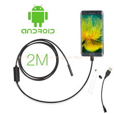 7mm Android Phone Endoscope IP67 Inspection Borescope HD 6 LED Video Camera 2M