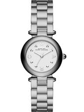 BRAND NEW MARC JACOBS MJ3485 DOTTY EXTENSIONS WHITE DIAL SILVER WOMEN'S WATCH