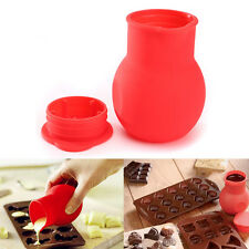 Silicone Chocolate Melting Pot Cup Melt Butter Milk Heating Sauce Pourer Jug