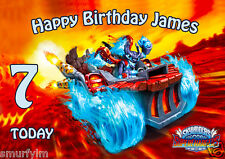 Skylanders Superchargers CAKE TOPPER PARTY PERSONALISED WAFER PAPER A4  img b9