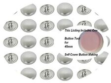 50 Buttons 38mm Self Cover SHANK Back  DIY Button (Size 60L US) win tool set