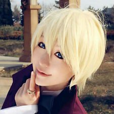 Lolita Short Wavy Light Blonde Cosplay Black Butler Alois Trancy Hair Anime Wig