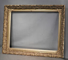 Antique Hudson River School Style Picture Frame 15x20 Brass Lemon Gilt FANCY