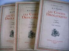 CONTES DROLATIQUES BALZAC 3 volumes 1929 compositions ROBIDA