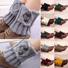 Short Style Women Winter Leg Warmers Socks Button Crochet Knit Boot Socks ES