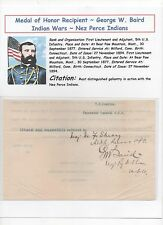Medal of Honor Recipient ~ Indian Wars ~ US Army ~ George W. Baird ~ TLS ~ 10+