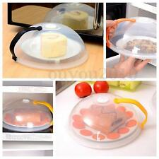 Microwave Dome Cooking Plate Cover Food Splatter Lid Steam Vent With Handle