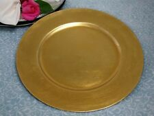 "Set of 6 - 13"" Gold Charger Plate ~NEW~ Wedding Party Holiday Dinner"