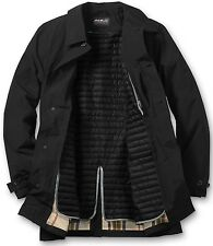 EDDIE BAUER MENS JACKET MICRO THERM TRENCH LINED COAT BLACK XXXL 3X $249