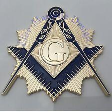 "New 3D..Masonic Master Mason Cut out Car, Multipurpose 3"" Nickel Gold emblem,"