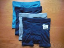 """Boys NWT HANES Boxer Briefs """"Our Most Comfortable"""" 4prs Blues Cotton S(38-58lbs)"""