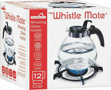 Euro-Ware 401 Whistle Tea Kettle, Glass, 12 Cup