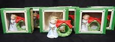 Vintage Lil Chimers Angel Napkin Ring Bell All In One Bisque Porcelain Lot of 6