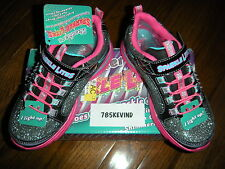 Girls' SKECHERS Sparkle Lite Kick II Light-up Sneakers/Shoes size 12M (NIB)