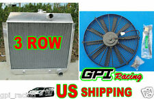 3 ROW Chevy 1951-1954 for cars W/COOLER 51 52 53 54 Aluminum Radiator + FAN