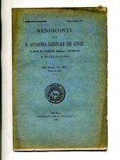RENDICONTI DELLA REALE ACCADEMIA DEI LINCEI #Tip.Accademia 1922 Vol. XXX N.11-12