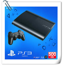 PS3 SONY PLAYSTATION 3 SUPER SLIM CONSOLE SYSTEM 500GB Black Malaysia Warranty