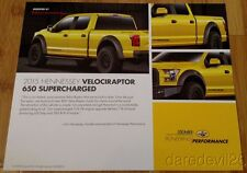2015 Hennessey Ford Velociraptor 650 Supercharged Shell SEMA Show info card
