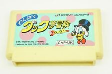 Duck Tales Wanpaku Duck Yumebouken NES CAPCOM Nintendo Famicom Japan USED