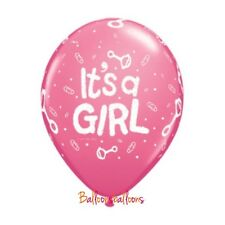 """8 x """"Its a girl"""" baby shower new born Latex 12"""" Balloons Party Decoration"""