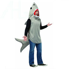 Adult Sand Tiger Shark Jaws Film Fancy Dress Costume Beach Hawaiian Halloween