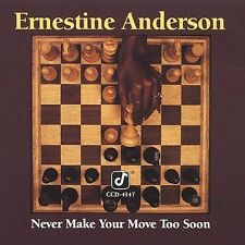Never Make Your Move Too Soon by Ernestine Anderson (CD, Jun-1990, Concord)